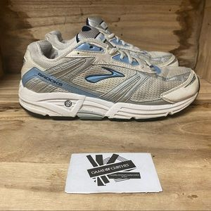 Brooks addiction classic blue silver sneaker shoes